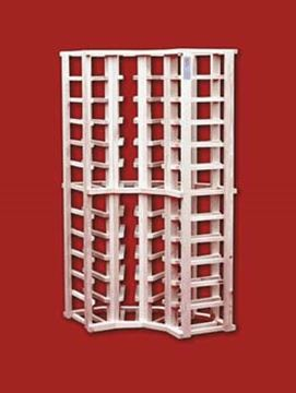 Picture of Pine 4 column corner wine rack (stackable series)
