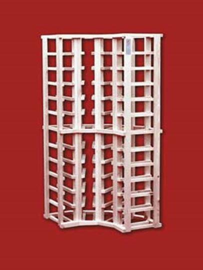 Picture of Pine 4 column corner wine rack (stackable series)