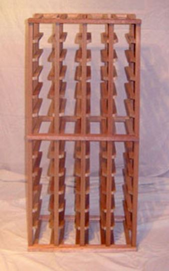 Picture of Mahogany  4 column wine rack MH52s (stackable series)