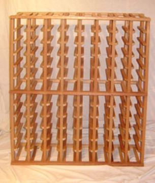 Picture of Mahogany 8 column wine rack MH104S (stackable series)