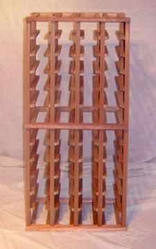 Picture of Mahogany  4 column wine rack (stackable series)