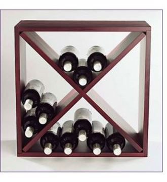 Picture of Mahogany Cube wine racks (stackable series)