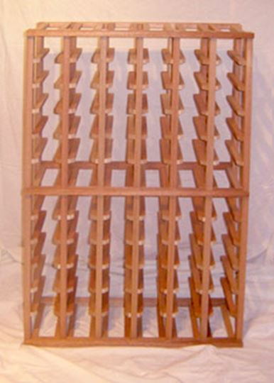 Picture of Mahogany  6 column wine rack (stackable series)