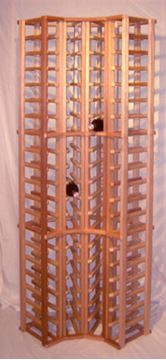 Picture of Mahogany  4 column corner wine rack (stackable series)
