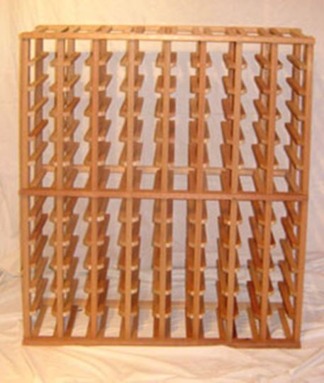 Picture of Mahogany 8 column wine rack (stackable series)
