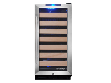 Picture of 26 Bottle Wine Cooler (Black/Stainless)