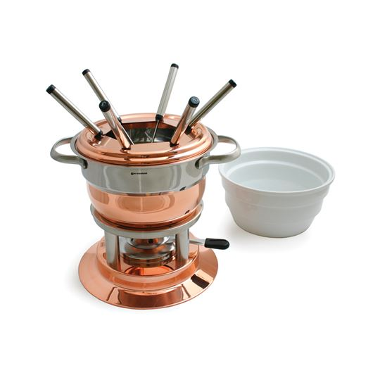 Picture of Lausanne 11-PC Copper Fondue Set