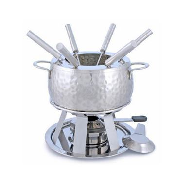 Picture of Swissmar Bienne 11 pc. Stainless Steel Fondue Set