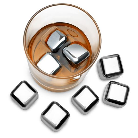 "Picture of Hard Ice 1"" - Stainless Steel Ice Cubes"