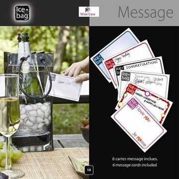 Picture of Ice bag w message holder- 4209