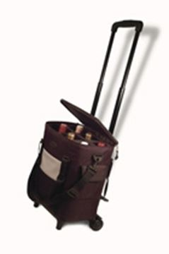 Picture of Vinifera 6 bottle wine carrier with wheels