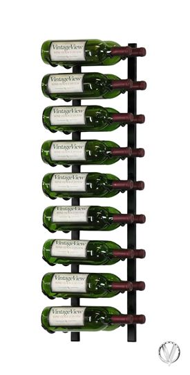 Picture of 18 Bottle, W Series 3′ Wall Mounted Metal Wine Rack