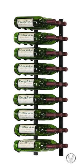 Picture of 27 Bottle, W Series 3′ Wall Mounted Metal Wine Rack