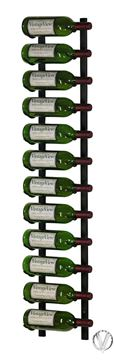 Picture of 12 Bottle, W Series 4′ Wall Mounted Metal Wine Rack