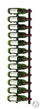Picture of 24 Bottle, W Series 4′ Wall Mounted Metal Wine Rack