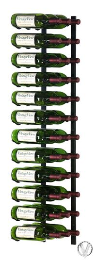 Picture of 36 Bottle, W Series 4′ Wall Mounted Metal Wine Rack