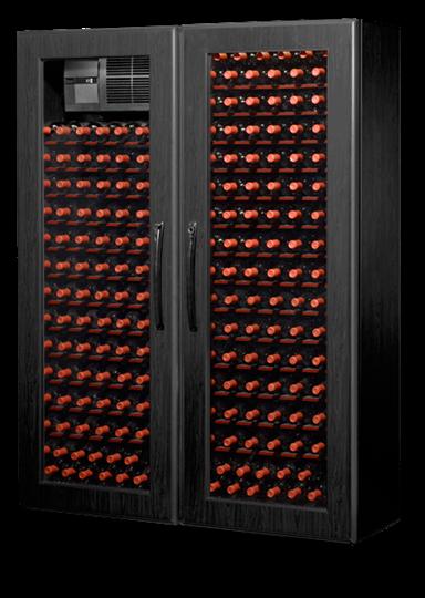Picture of WineKoolR, Two Doors, Double Deep, EBONY