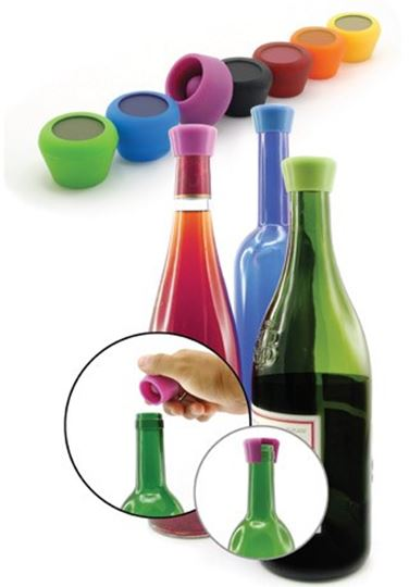 Picture of Pulltex Silicone Wine Stoppers (2pcs.)