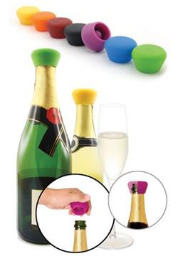 Picture of Pulltex, Silicone Champagne Stoppers (2pcs.)