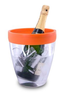 Picture of Pulltex, Orange Silicone Top   Ice Bucket