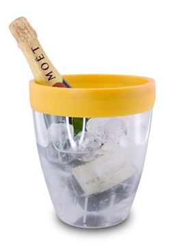 Picture of Pulltex, Yellow Silicone Top | Ice Bucket