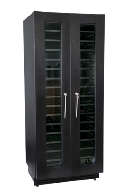 Picture for category Cavavin Majestika-Black Laminated Sides, Wood Frame with Glass Door