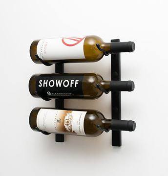 Picture of 3 - Bottle, W Series 1′ Wall Mounted Metal Wine Rack