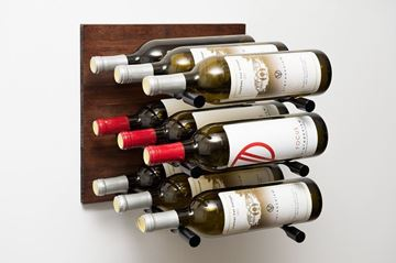 Picture of Grain & Rod | Cork Forward: Metal and Wood Wine Rack Panel (9 bottles)