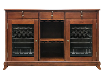 Picture of Cava 38-Bottle Wine Storage Credenza (Red Mahogany)
