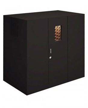 Picture of 724-Bottle Walk-In Wine Vault with Technical Veneer Exterior (Black)