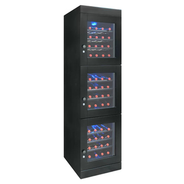 Picture of 48-Bottle Wine Cellar in Espresso, 3 independent temperature zones