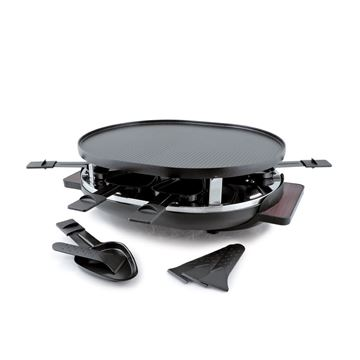 Picture of Swissmar, 8 person Matterhorn Oval Raclette Party Grill and grill plate.