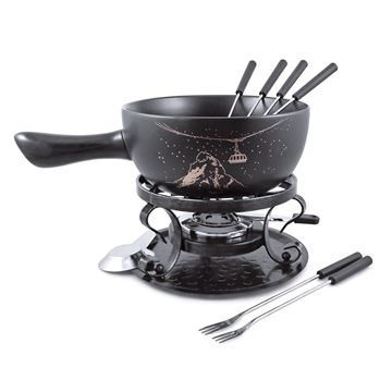 Picture of Swissmar,  Product Details Gruyere 9PC Ceramic Fondue Set