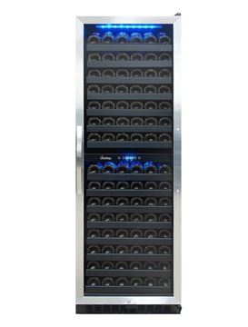 Picture of VT-155SBB, 155 Bottle Dual Zone Wine Cooler