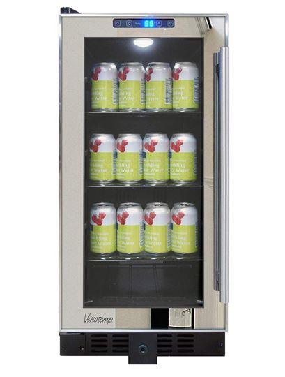 Picture of Vinotemp Mirrored Trim Beverage Cooler