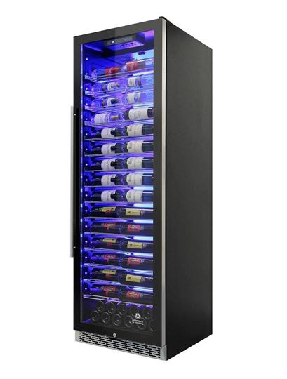 Picture of Private Reserve Series 141-Bottle Backlit Panel 168 Single-Zone Wine Cooler