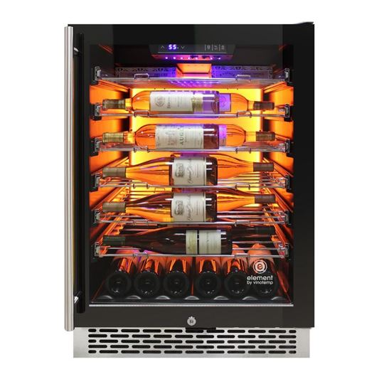 Picture of Private Reserve Series 41-Bottle Backlit Panel Commercial 54 Single-Zone Wine Cooler