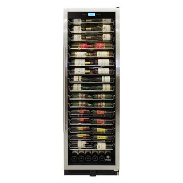 Picture of 141-Bottle Single-Zone Backlit Panel Wine Cooler (Stainless)