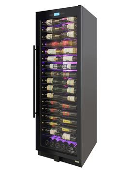 Picture of 141-Bottle Single-Zone Backlit Panel Wine Cooler (Black)