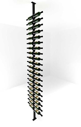 Picture of 40-120 Bottles, Vino Rails Post Kit, Two -Sided Cork Forward Floating Wine Rack
