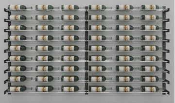 Picture of Evolution Series Wine Wall 45″ Wall Mounted Wine Rack Kit (54 to 162 bottles)
