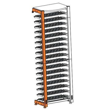 Picture of EuroCave Modulosteel wine racking system, MS2