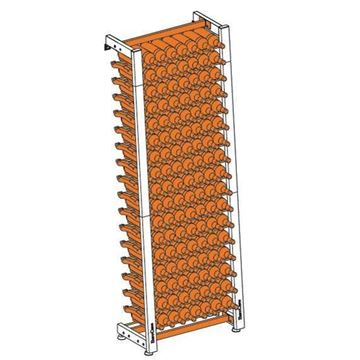 Picture of EuroCave Modulosteel wine racking system, MS1
