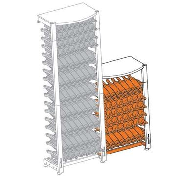Picture of EuroCave Modulosteel wine racking system, MS1DEMI