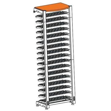 Picture of EuroCave Modulosteel wine racking system, OMS2