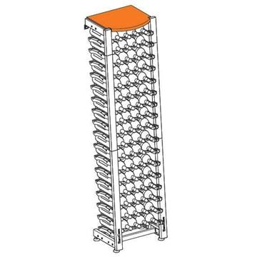 Picture of EuroCave Modulosteel wine racking system, OMS2-L40