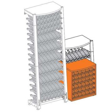 Picture of EuroCave Modulosteel wine racking system,  OMS1