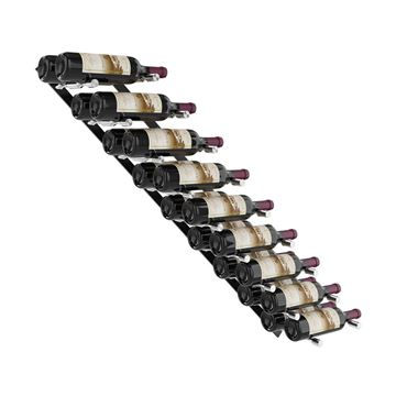 Picture of 18 bottles, Vino Pins Flex Wall Mounted Metal Wine Rack system
