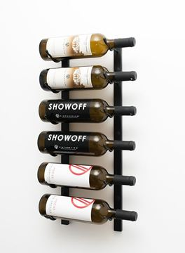Picture of 6- bottle, W Series 2′ Wall Mounted Metal Wine Rack