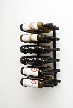 Picture of 18 -Bottle, W Series 2′ Wall Mounted Metal Wine Rack